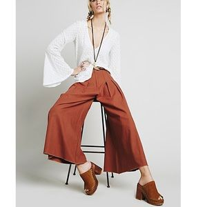 Free People | ONE High-Waisted Pintuck Culottes